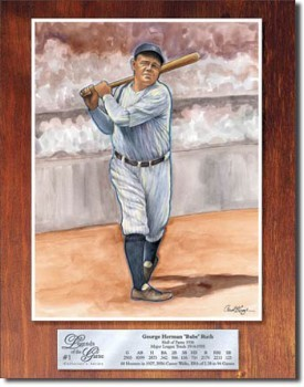 Babe Ruth Legend Tin Sign