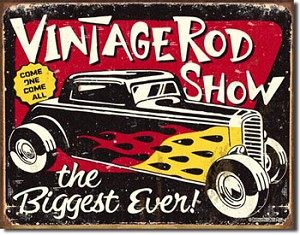 Vintage Rod Show Tin Sign