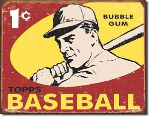 Topps Bubble Gum Tin Sign