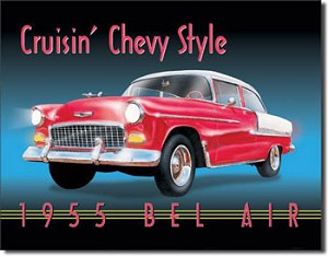 1955 Chevrolet Bel Air Tin Sign