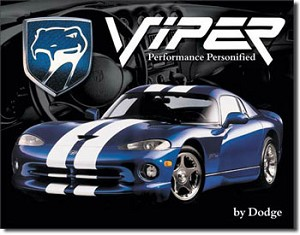 Dodge Viper Tin Sign