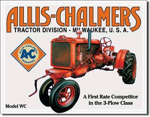 Allis Chalmers Model U Tin Sign