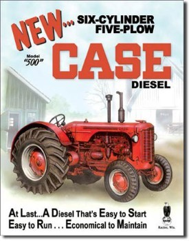 Case Model 500 Tin Sign