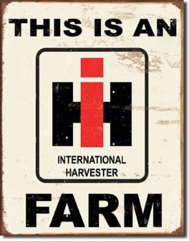International Farm Tin Sign