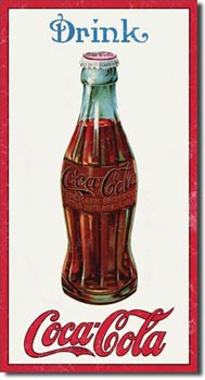 Coca Cola 1915 Bottle Tin Sign