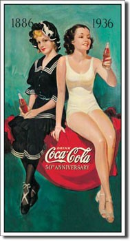 Coca Cola 50th Anniversary Tin Sign