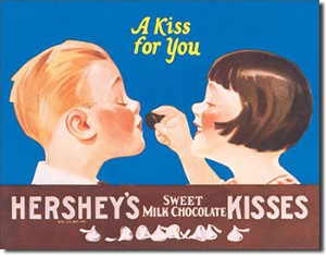Hershey's Kisses Tin Sign