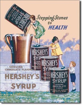 Hershey's Syrup Tin Sign