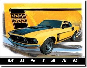 Mustang Boss 302 Tin Sign