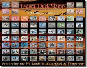 Federal Duck Stamp Montage Tin Sign