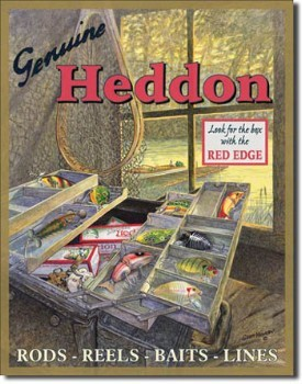 Heddon Tackle Box Tin Sign
