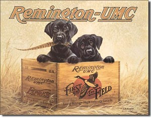 Remington Labs Tin Sign
