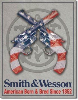 Smith & Wesson American Born Tin Sign