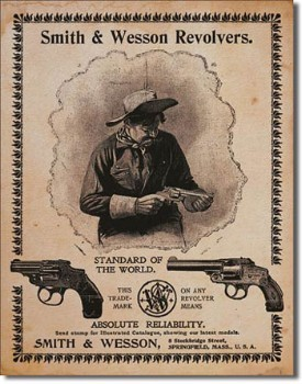 Smith & Wesson Revolvers Tin Sign
