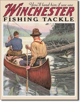 Winchester Fishing Tackle Tin Sign