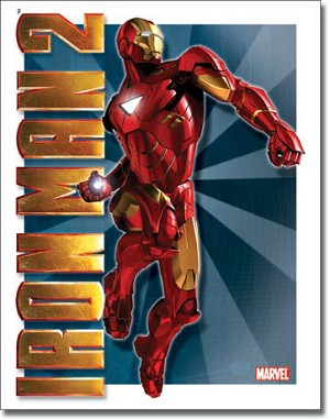 Iron Man 2 Mark 6 Tin Sign