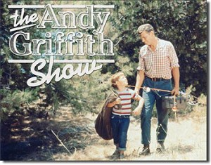 Andy Griffith Tribute Tin Sign