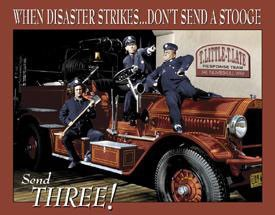 Stooges Fire Department Tin Sign