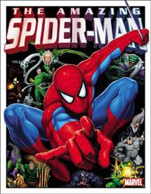 Spider Man & His Foes Tin Sign