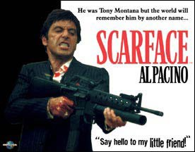 Scarface My Little Friend Tin Sign