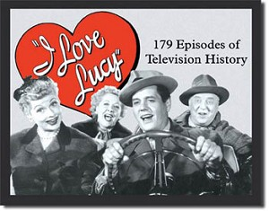 I Love Lucy TV History Tin Sign