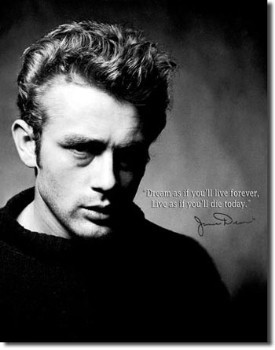 James Dean Live Forever Tin Sign
