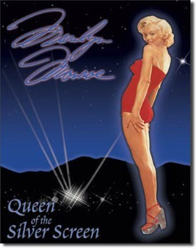 Marilyn Queen of Screen Tin Sign
