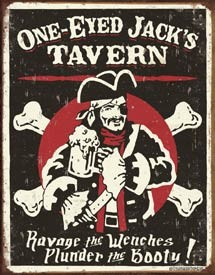 One Eyed Jacks Tin Sign