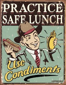 Safe Lunch Tin Sign