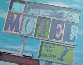 A. Ross Beach Motel Tin Sign