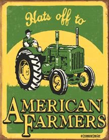 Schonberg American Farmer Tin Sign