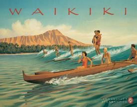 Erickson Waikiki Surf Tin Sign