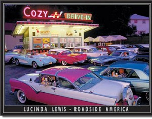 Lucinda Lewis Drive-In Tin Sign