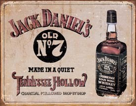 Jack Daniel's Tennessee Hollow Tin Sign
