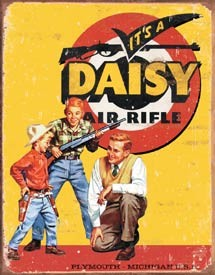 It's a Daisy Air Rifle Tin Sign