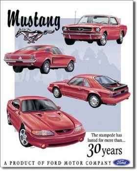 Mustang Tribute Tin Sign