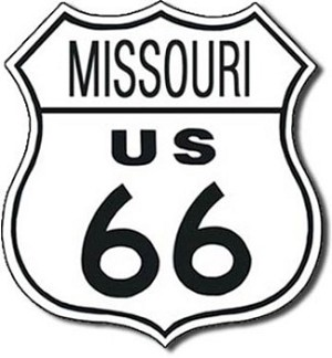 Route 66 Missouri Tin Sign