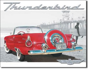 T-Bird Beach Tin Sign