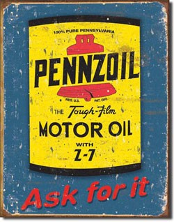 Pennzoil Can Tin Sign