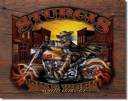 Sturgis Wild Bill '05 Tin Sign