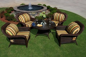 Lexington Synthetic All Weather Wicker 5 Piece Conversation Set