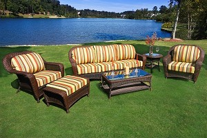 Lexington Synthetic All Weather Wicker 6 Piece Deep Seating Sofa Set
