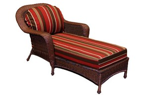 Lexington Synthetic All Weather Wicker Chaise Lounger
