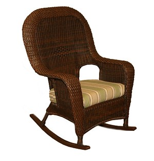 Lexington Synthetic All Weather Wicker Rocker Club Chair