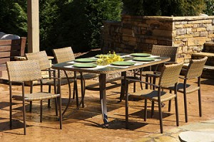 Synthetic All Weather Wicker 7 Piece Dining Set