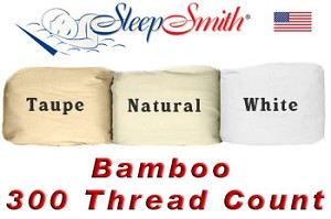 Bamboo/Cotton California King 300 Thread Count Cotton Percale Sheet Set