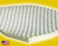 "Full Extra Long Size Egg Crate Foam Mattress Topper 2"" Thick"
