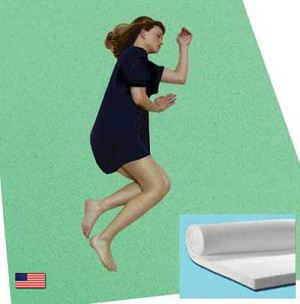 "Bunk Bed Size 1.5"" Thick Cool Breathable Memory Foam Mattress Topper"