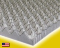 "Double Size Egg Crate Natural Latex Mattress Topper 2"" Thick"