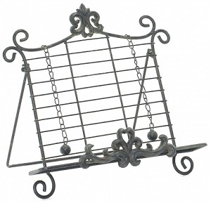 Iron Black Cook Book Stand
